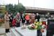 Delegacja i rodziny trenerów przy grobie E. Kicińskiego